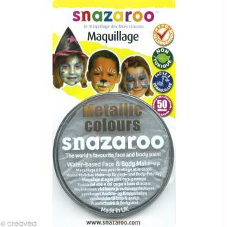 Maquillage Carnaval Fard Argent - visage et corps - 18 ml