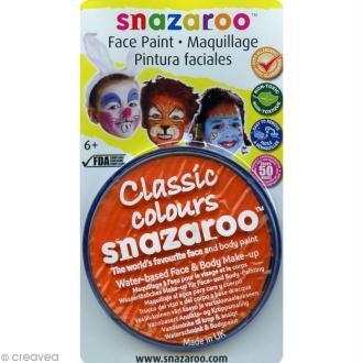 Maquillage Carnaval Fard Orange - visage et corps - 18 ml
