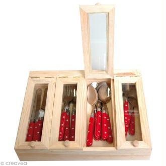 Boîte couverts bois à décorer