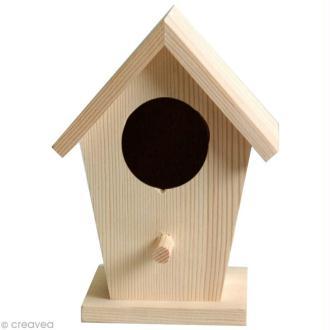 Nichoir en bois à décorer 14 cm