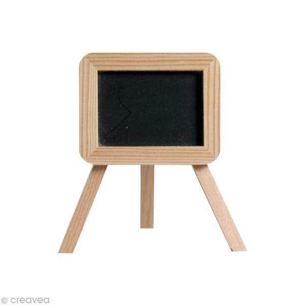 Ardoise Rectangulaire en bois à décorer 14,5 x 10 cm - Photo n°1