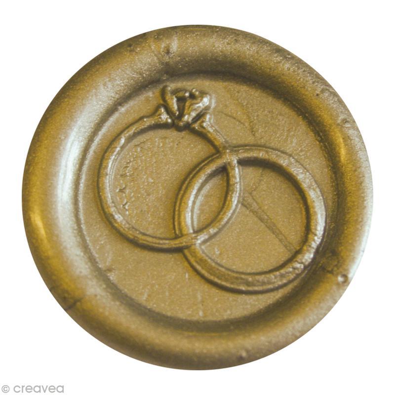 Cachet de cire à coller Or Alliance x 10 - Photo n°1