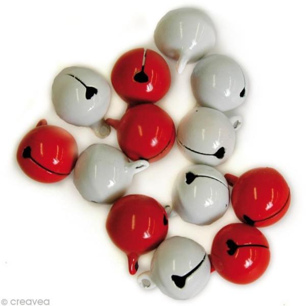 Grelot Rouge et Blanc 1,5 cm x 10 - Photo n°1