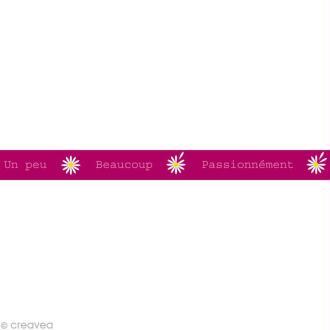 Masking tape Girl - Un peu, Beaucoup... Rose Foncé 15 mm x 10 m