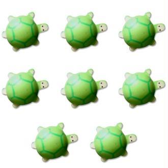 Lot 8 tortues en bois peint