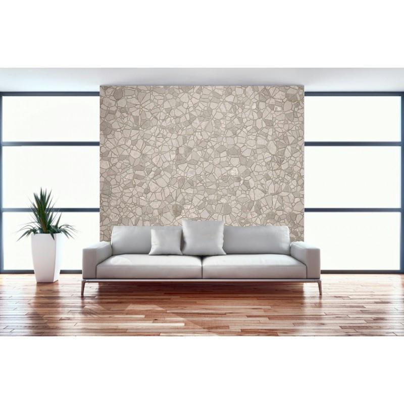 Papier peint pierre 260 x 240 cm papier imitation pierre - Papier peint intisse cuisine ...