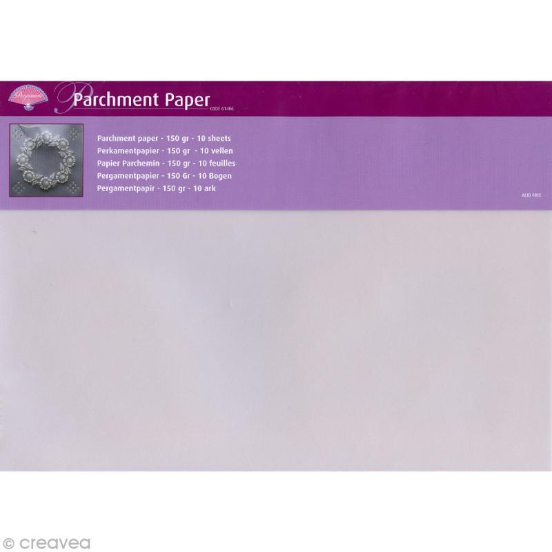 Papier parchemin pergamano a4 150 gr 10 feuilles for Papier parchemin cuisine