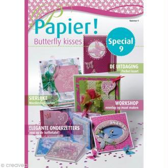 Livre Pergamano - Magazine N°9 - Papier Butterfly Kisses