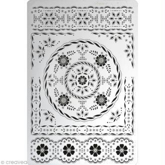 Grille Pergamano 11 - Fleurs et Bordures (31421)