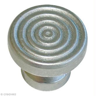 Poignée cartonnage - 4 Boutons Athena - Argent Mat - 4 vis - diam 16 mm