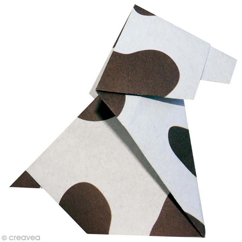 papier origami japonais assortiment 20 feuilles animaux 15 x 15 cm papier origami creavea. Black Bedroom Furniture Sets. Home Design Ideas