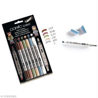 Copic Ciao Set Scrap et Tampons N°2 - 5 couleurs et 1 blender