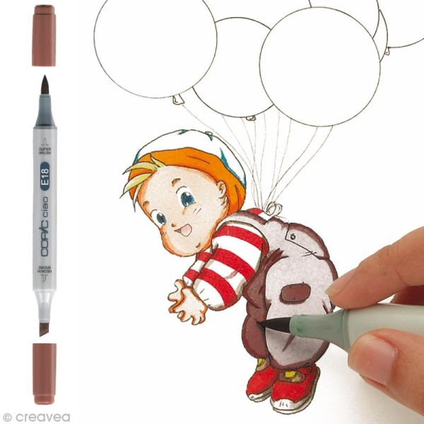 Marqueur Copic Ciao - E18 Cuivre - Rechargeable - Photo n°1