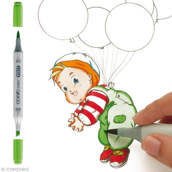 Marqueur Copic Ciao - YG17 Herbe Verte - Rechargeable - Photo n°1