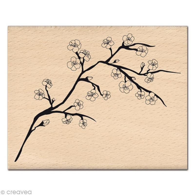 Tampon Nature Branche De Cerisier Tampon Bois Creavea