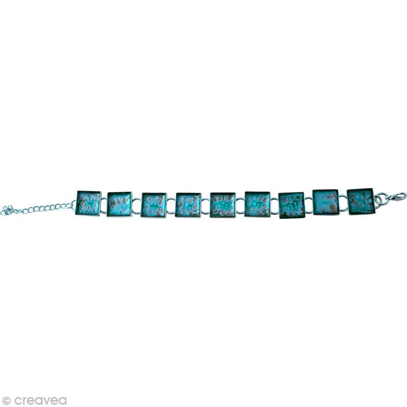 Bracelet Métal Carré à décorer - Photo n°2