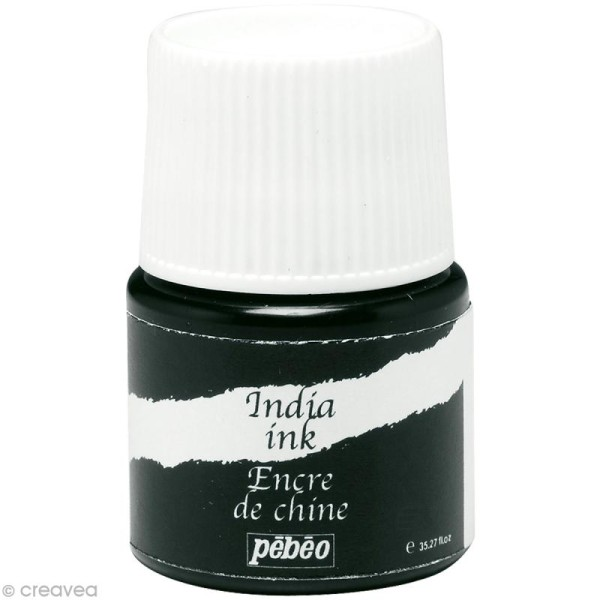 Encre de Chine Noir India Ink 20 ml - Photo n°1