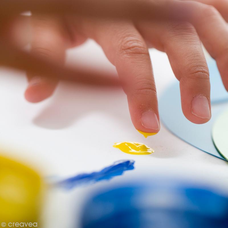 Kit de Peinture au doigt bébé Textile Pebeo - Couleurs nacrées - Photo n°3