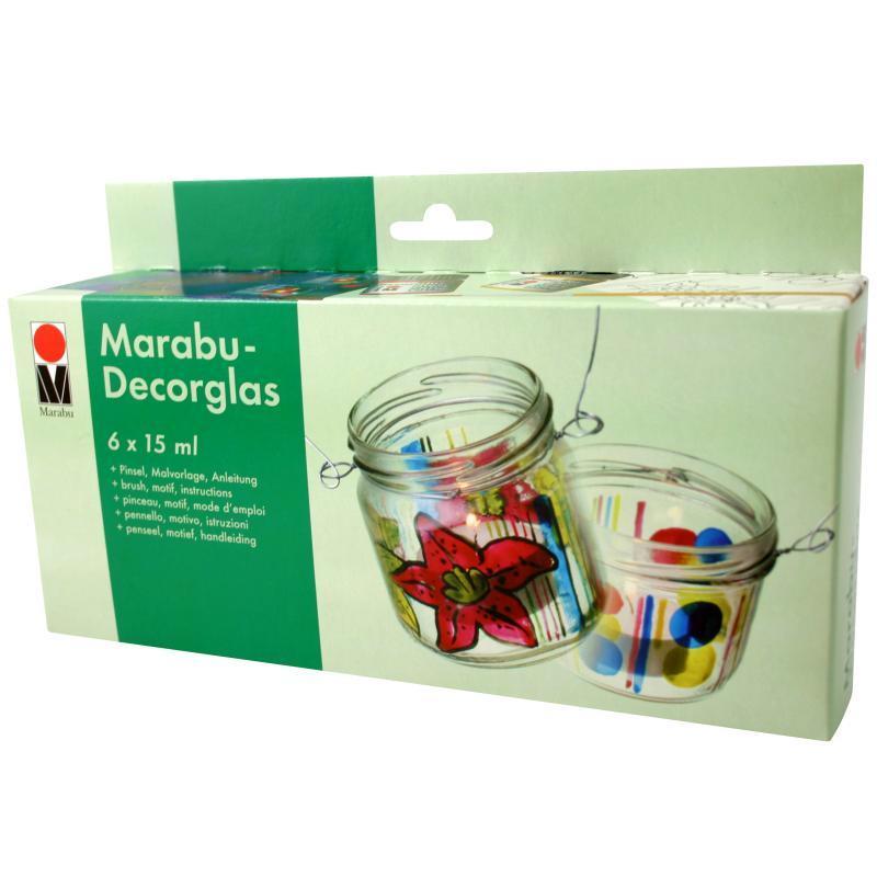 kit peinture transparente decorglas pour verre 6 x 15 ml kit peinture creavea. Black Bedroom Furniture Sets. Home Design Ideas