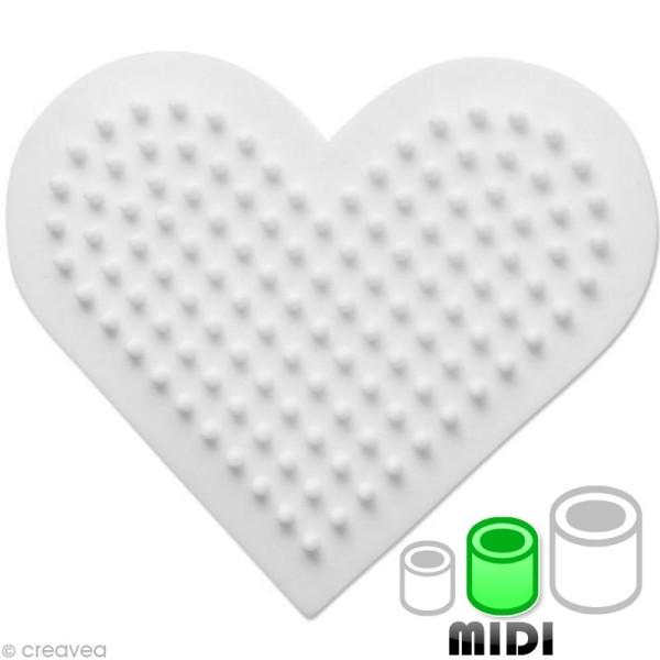 Plaque pour perles Hama Midi - Coeur petit modèle - Photo n°1