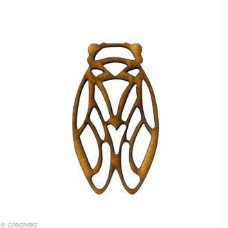 Forme en bois Animal - Cigale ajourée - MDF 4,5 x 2,6 cm