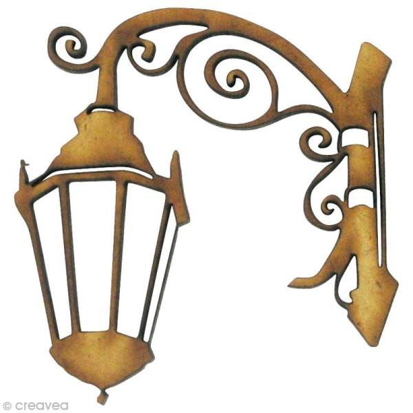 Forme en bois Divers - Lanterne 2 - MDF 4,5 x 4,3 cm - Photo n°1