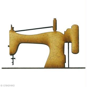 Forme en bois Couture - Machine à coudre - MDF 4,5 x 2,7 cm