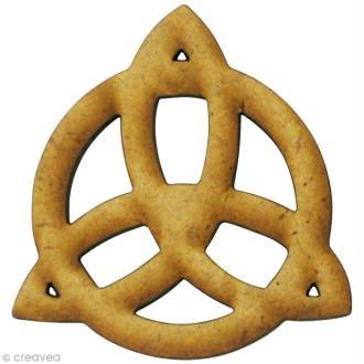 Forme en bois Divers - Symbole celte - MDF 4 x 4 cm