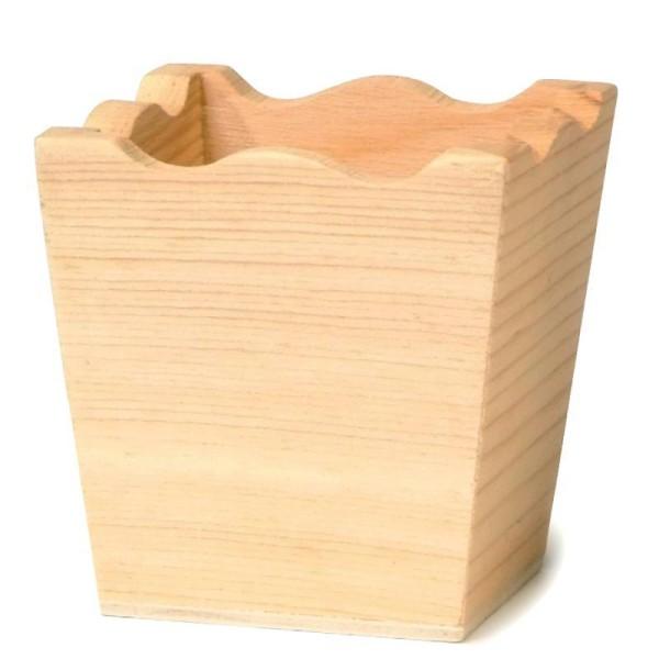 Mini vase en bois 5 cm - Photo n°1