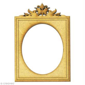 Forme en bois Divers - Cadre vintage moyen - MDF 5,8 x 8,2 cm