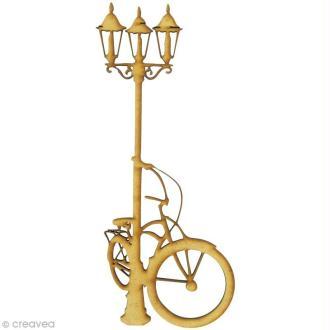 Forme en bois Divers - Lampadaire vélo - MDF grand format 7,5 x 18,6 cm