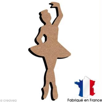 Danseuse jambes croisées en bois - 7 x 17 cm