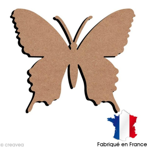 Papillon N°3 en bois à décorer - 15 x 12,5 cm - Photo n°1