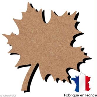 Feuille érable en bois - 13,5 x 14,6 cm