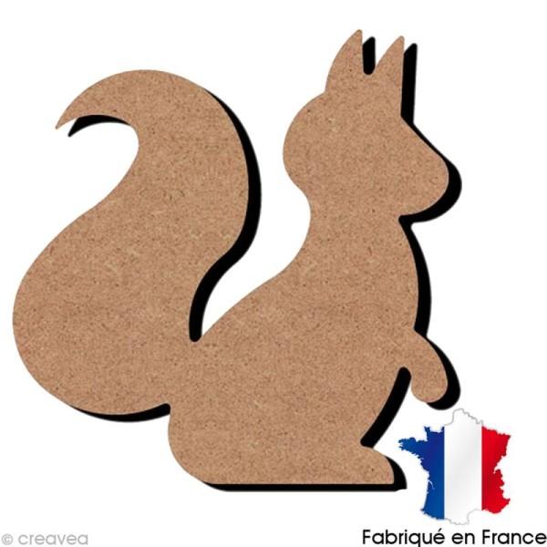 Ecureuil en bois à décorer - 14 x 15 cm - Photo n°1