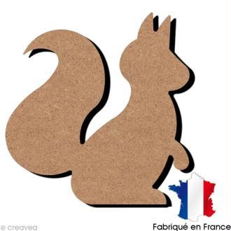 Ecureuil en bois à décorer - 14 x 15 cm