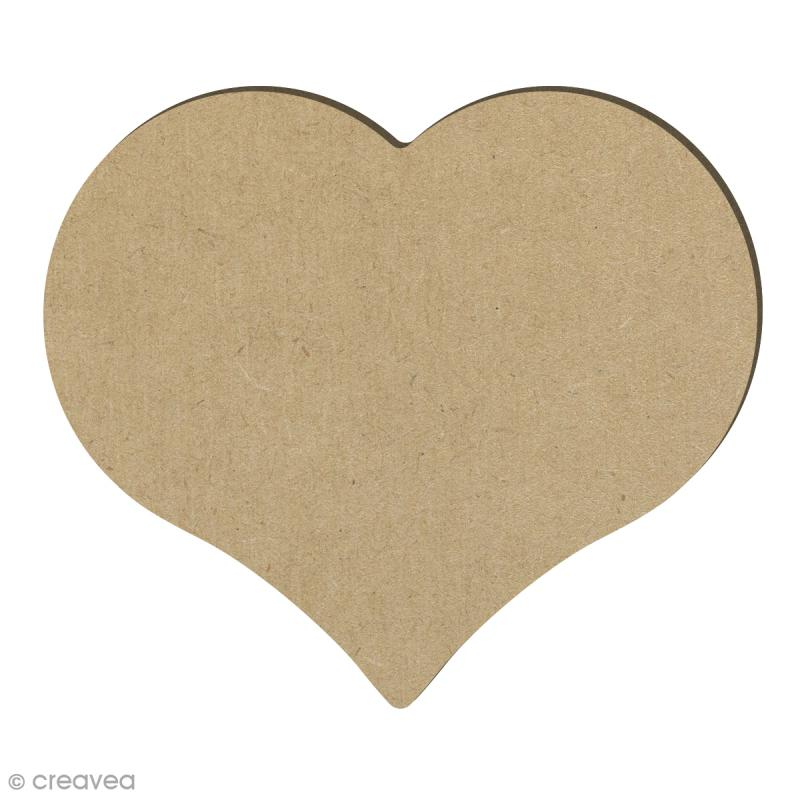 coeur en bois 14 7 x 12 8 cm support d co amour creavea. Black Bedroom Furniture Sets. Home Design Ideas