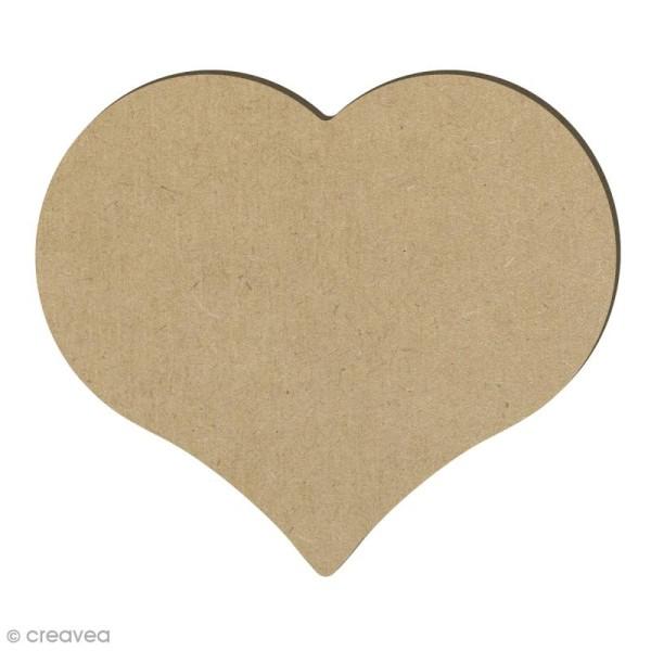 Coeur en bois - 14,7 x 12,8 cm - Photo n°1