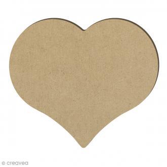 Coeur en bois - 14,7 x 12,8 cm