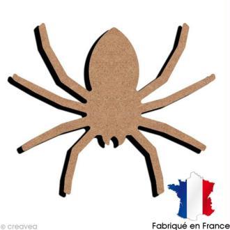 Araignée en bois à décorer - 14,7 x 12,4 cm