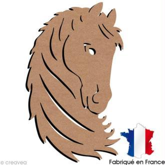 Tête de cheval en bois à décorer - 33 x 56 cm