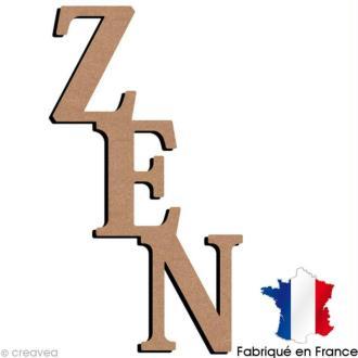 Mot Zen en bois à décorer - 30 x 53,5 cm