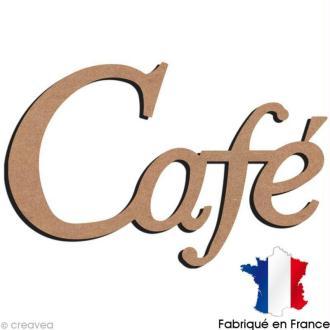 Mot Café en bois à décorer - 56,3 x 36,5 cm