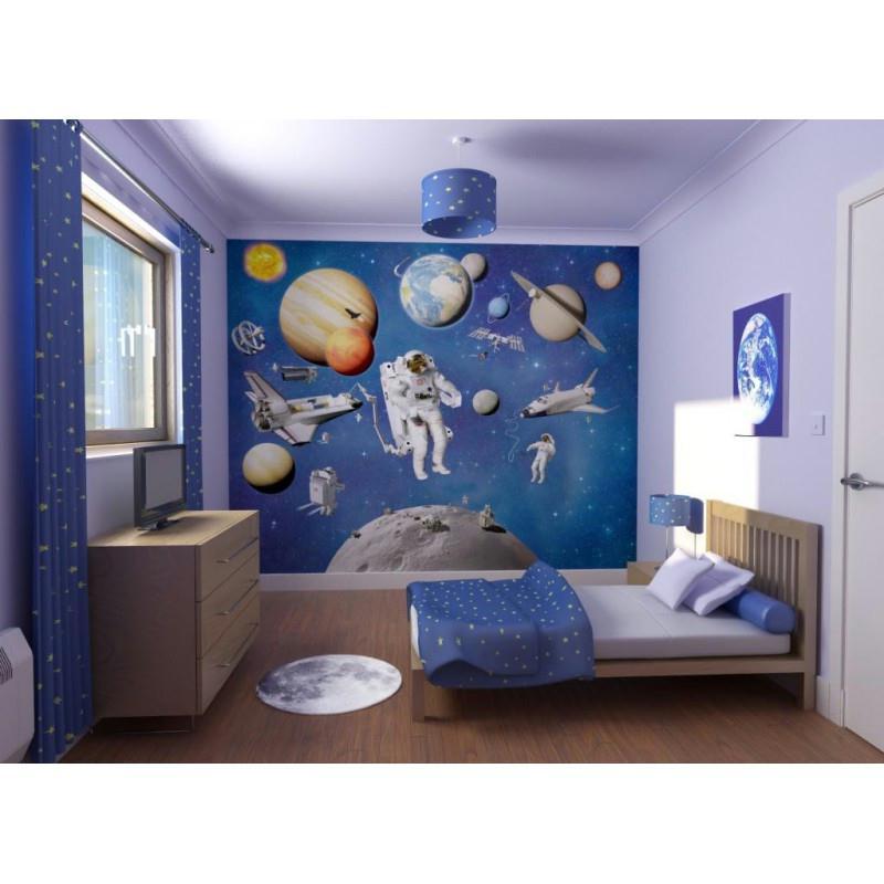 Papier peint aventures dans l 39 espace 240 x 300 cm papier - Papier peint intisse cuisine ...