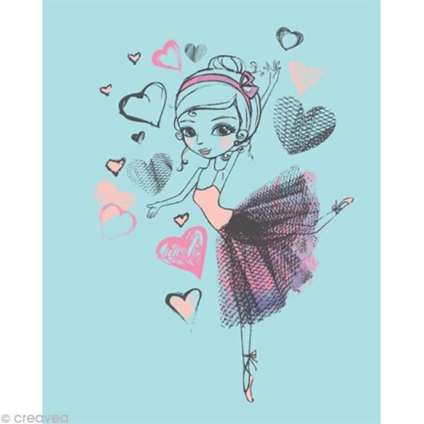 Image 3D Femme - Danseuse fond bleu - 24 x 30 cm - Photo n°1