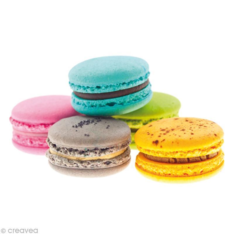 Image 3D Cuisine - 5 Macarons - 24 x 30 cm - Photo n°1