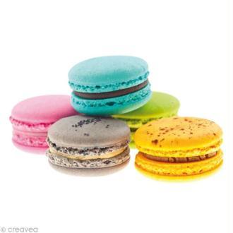 Image 3D Cuisine - 5 Macarons - 24 x 30 cm