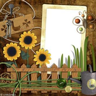 Image 3D Fleur - Mémo tournesol - 30 x 30 cm