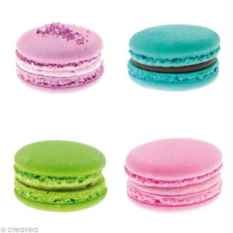 Image 3D Cuisine - 4 Macarons - 30 x 30 cm