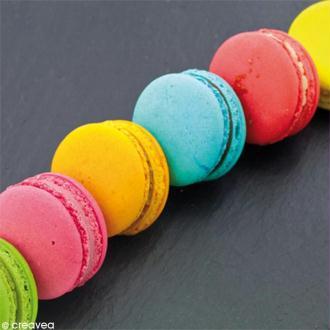 Image 3D Cuisine - Macarons sur ardoise - 30 x 30 cm